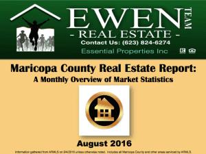 Ewen Real Estate August 2016 Market report