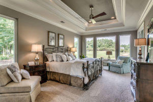 Staging your home for sale master bedroom