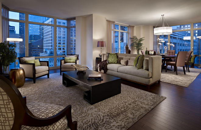 Staging your home for sale living room